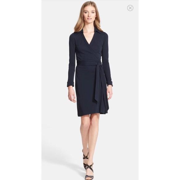 d94725e087e DVF New Jeanne Two Wrap Dress Sz S
